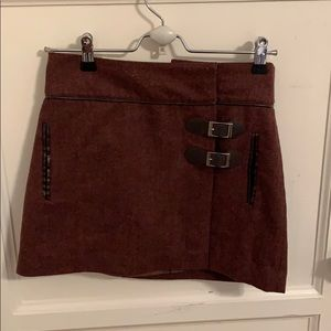xxi Skirts - Brown knitted skirt with buckles